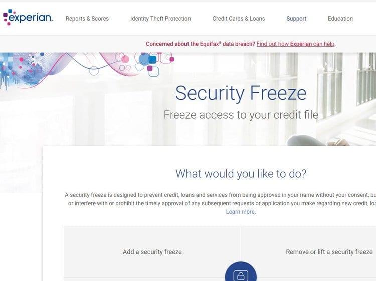 Experian+security+freeze+screen+capture